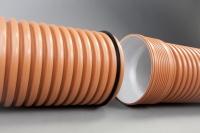 Гофрированная канализационная труба Икапласт SN 8 110x96 мм
